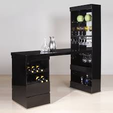 Glass Bar Cabinet Designs Funiture Unique Black Wooden Home Bar Cabinet Designs With