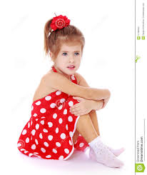 beautiful little in a red dress stock photo image 57788333