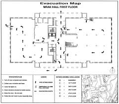 Fire Evacuation Plan Office by Ca U0026es Dean U0027s Office Mrak Hall Building Evacuation Plan And
