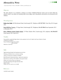 Early Childhood Resume Examples by Ece Sample Resume Sample Ece Resume Gallery Best Format Candidate
