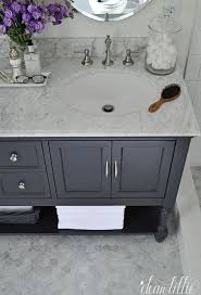 Bathroom Vanity Colors Stunning Guest Bath With Gray Bathroom Vanity Paired With Carrara