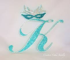 k cake topper couture cake jewelry monogram cake toppers weddings