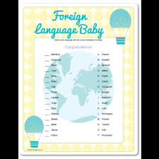 different baby shower foreign language baby shower match the word baby in