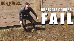 bad obstacle course fail youtube