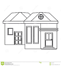 outline family house exterior concept stock vector image 82345278