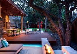 Modern Patio Lighting Modern Backyard Deck Landscape Contemporary With Patio