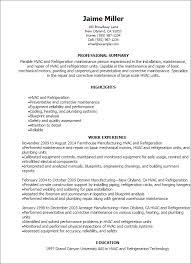 Millwright Resume Sample by 100 Hvac Apprentice Resume Maintenance Apprentice Cover