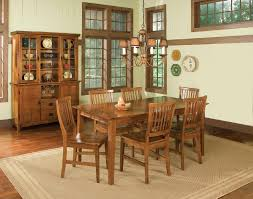 home styles 7pc arts u0026 crafts dining set cottage oak finish