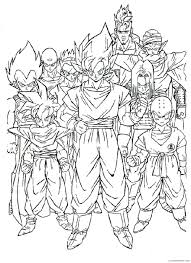 dragon ball z coloring pages goku ready to fight coloring4free