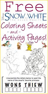 25 snow white coloring pages ideas snow