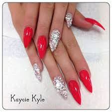 best 25 long red nails ideas on pinterest red nails red nail