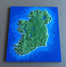 3d Map Of The World by An Irish Emigrant Has Designed This Amazing Map For People To 3d Print
