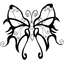 butterfly tribal tattoo flash real photo pictures images and