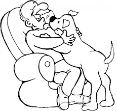 dog coloring pages walking the dog coloring page color this within