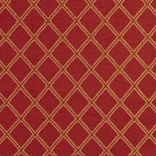 Diamond Upholstery E611 Diamond Red Gold And Green Damask Upholstery Fabric By The Yard