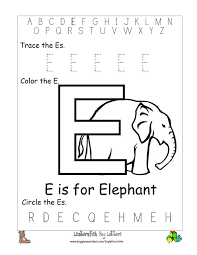 printable letter e coloring pages virtren com