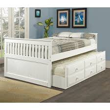Full Size Captains Bed With Drawers Bedroom Captain Bed With Trundle Captains Bed Twin With Drawers