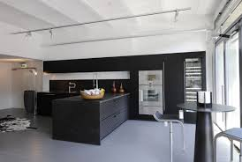 Modern Kitchen Wall Colors Modern Kitchen Design With Black And White Wall Color Idea