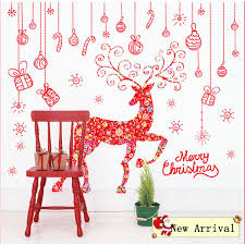 elk home decor merry christmas hanging pieces elk deer wall stickers festival