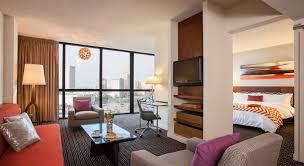 Bed And Living The Studio Suite Houston Suites Hotel Derek