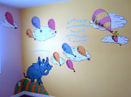 dr seuss mural horton hears a who oh the places you ll go baby dr seuss mural horton hears a who oh the places you ll go nursery muralswall