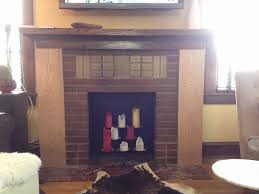 our fireplace mantel remodel before and after brookside