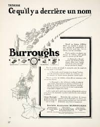 une en plus siege social 1925 ad burroughs typing machines typewriters calculating 1 rue