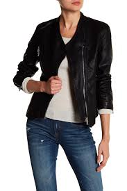 jacket moto blanknyc denim faux leather collarless moto jacket nordstrom rack