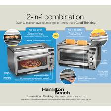 hamilton beach 2 in 1 oven and toaster 31156