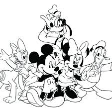 mickey mouse friends coloring pages qlyview