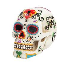 Amazon 5 5 Inch Multicolor Patterned Day of The Dead Skull