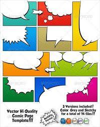 comic strip template by jimbob37 teaching resources tes