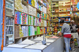 store in india grocery in indian style in pelling sikkim india stock photo