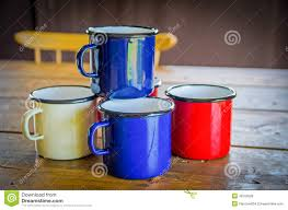 tin coffee mugs stock photo image 48705628