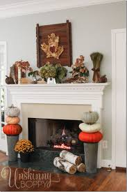 Decorate Inside Fireplace by Fabulous Fall Party Fall Decorating With Nature Unskinny Boppy
