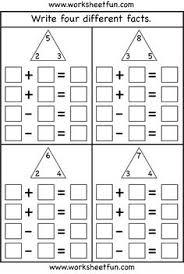 printable math fact families cards fact families multiplication