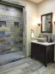 slate bathroom ideas bathroom flooring ideas floor slate shower and freestanding tub