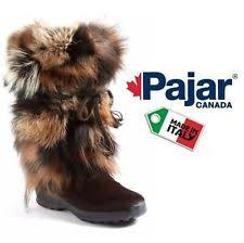 womens fur boots canada pajar fur pull on boots for ebay