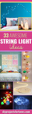 Awesome DIY String Light Ideas Room Decor Dorm And Teen - Cool diy bedroom ideas