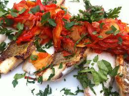 cuisiner la vive filets de vive poivron coriandre