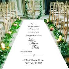 1 corinthians 13 wedding 1 corinthians 13 4 8 never fails personalised wedding aisle