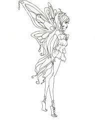winx club enchantix bloom coloring page side view by winxmagic237