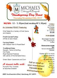 thanksgiving day feast michael s catering banquets