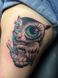 owl tattoo big blue eyes tattoos pinterest tattoo and tatoo