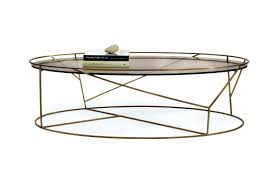 walker edison coffee table oval glass and metal coffee table s walker edison glass metal oval