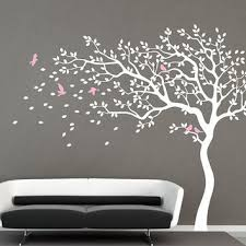Wall Tree Decals For Nursery White Tree Wall Decal Nursery Wall Decal From Iwalldecals On Etsy