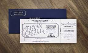 typography ticket wedding invites invitation crush