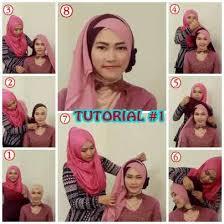 tutorial hijab pesta 2 kerudung cara memakai jilbab untuk kebaya pesta masa kini tutorial hijab