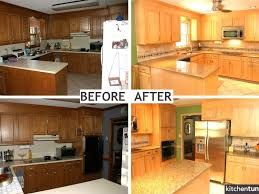 How Refinish Kitchen Cabinets Refacing Kitchen Cabinets Before And After Photos All Home