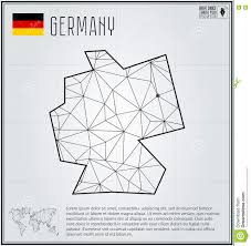 Berlin Germany Map by Germany Map In Geometric Polygonal Style Polygonal Abstract World